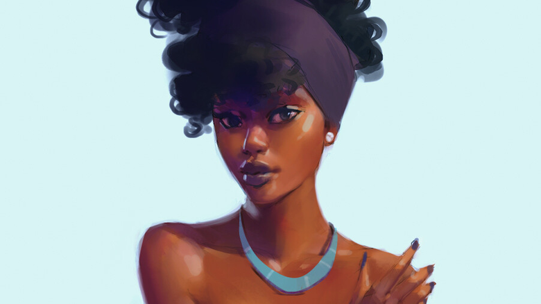 The Art of Machira: Kenyan Illustrator charming portraits of Young Women